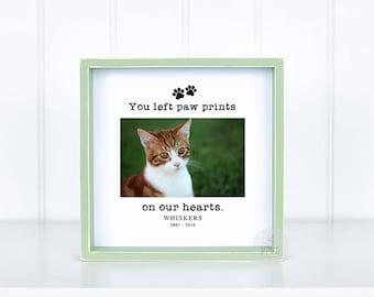 Cat Memorial Gift Pet Loss Gift Pet Sympathy Frame Personalized Pet Gift Pet Frame Cat Frame Loss of Pet Gift Loss of Cat Pet Bereavement