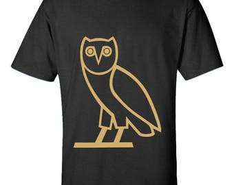 OVOXO XO Drake Owl Design T-Shirts  Christmas Gifts Trend Drake Clothing Men Size Unisex Printed Tee Shirts for Men and Women