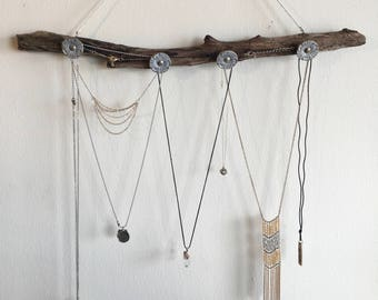 Up-cycled Driftwood Jewelry Hanger