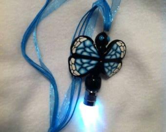 Lightening/Firefly Bug LED Multi Color Flashing Light Necklace