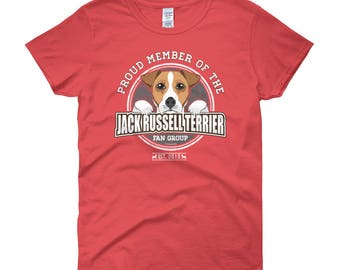 Proud Member of the Jack Russell Terrier Fan Group WOMENS T-Shirt Dog Rescue Donation Shirt