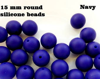 Silicone beads 15 mm diameter / Silicone chew beads for teether beads / Teething beads / Chewable beads chew silicone beads / Bite beads
