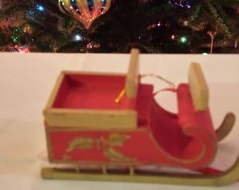 Vintage Sleigh Ornament