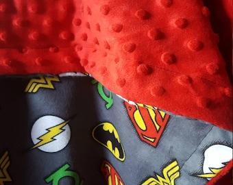 Superhero reversible fleece