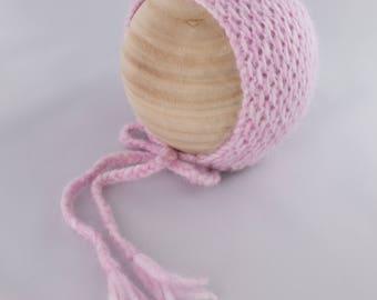 Sapgum Bonnet, newborn photography prop, knit bonnet prop