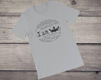 I am king I am queen T-shirt men women tee Short-Sleeve Unisex T-Shirt tshirt tee