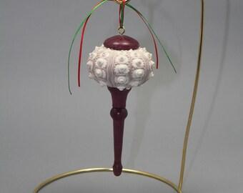 Sea Urchin shell Christmas ornament