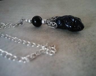 Pendulum Necklace in Tectite