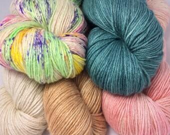 Yak/Silk 50/50 sport weight yarn 100g