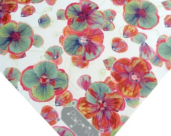Floral Wrapping Paper Poppy Patch