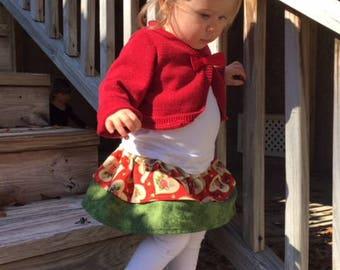 Vintage Valentine Reversible Ruffle Skirt