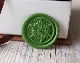 Snowflake wax seal stamp kit, winter day wax seal, Christams gift,party wax seal stamp set, invitation wax stamp