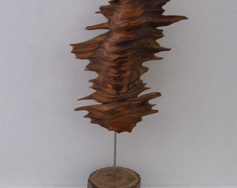 unusual natural wood sculpture - spinwood