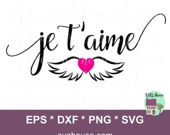 Je t'aime SVG. Valentines SVG. Valentines Svg Files. Valentines Svg Files For Cricut. Valentines Svg Design. Valentines Day. Valentines Gift