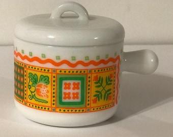 Vintage 1970 Avon Milk Glass Mug with lid
