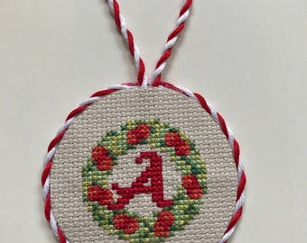 Christmas ornament / PERSONALIZED ornament/ decoration / cross stitch gift
