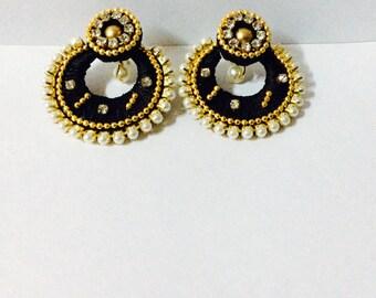 Black Chandbali Earring
