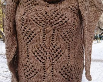 camel wool shawl