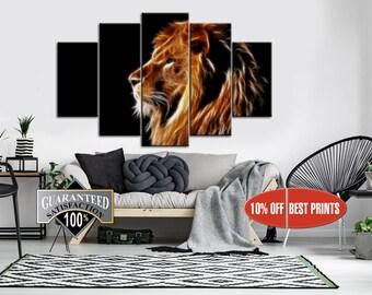 Lion, Lion Wall Decor, Lion Print, Lion Canvas, Lion Wall Art, Lion Poster, Animal Wall Decor, Animal Canvas, Animal Poster, Animal Print