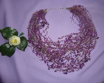 Amethyst cloud necklace