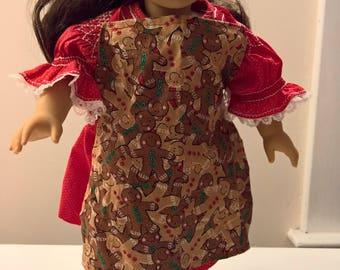 18 inch doll gingerbread apron