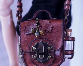 Steampunk Bag with acorns for BJD / SD / MSD / 1/3 / 1/4