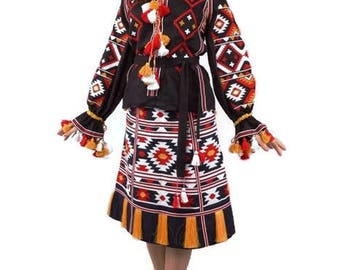 Vyshyvanka Woman Embroidered Blouse Black linen boho Blouse Bohemian Blouse Custom boho Clothing Vishivanka Ukrainian boho Chic nationale