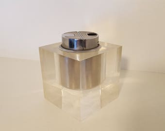 SAROME table lighter in great condition plexi 1960s