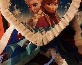 Frozen Disney Movie heart Shaped Pinata Elsa and Anna