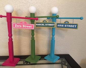 Sesame street lamp etsy sesame street sign with lamp post 21 12 inch sesame street party aloadofball Images