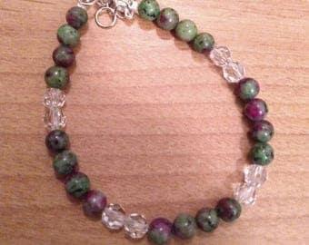 Ruby in Zoisite Gemstone Bracelet