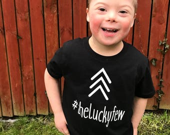 Kids T-Shirt - #theluckyfew Down's Syndrome