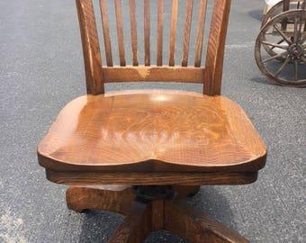 American Oak Antique Office Chair