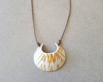 Carved Shell Necklace