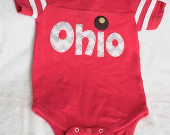 6-12 Month Buckeye Ohio Bodysuit