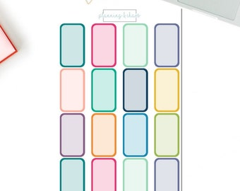 Monthly View Half Boxes - Functional | Planner Stickers