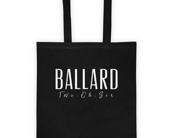 Ballard Seattle Washington 206 Pacific Northwest Hometown Canvas Tote bag