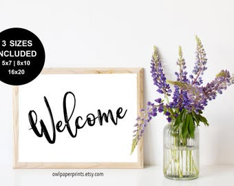 Welcome Sign - Printable PDF, Signs, Printables, Wedding, Event, Ceremony, Shower, Housewarming, party, decor