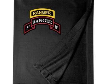 3/75th Ranger Battalion w/ Ranger Tab Embroidered Blanket-3320