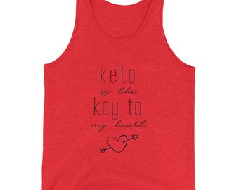 Keto Is The Key To My Heart Muscle Tank Top, Keto Ketosis Ketogenic Diet