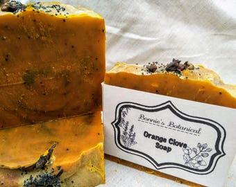 Orange Clove Soap / Cold process soap / Organic soap / Handmade soap / Natural soap / Vegan soap