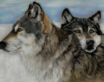 Wolf Print - Wolf Wall Art - Wolf Artwork - Wolf Painting - Wolf Picture - Wolf Lover Gift - Animal Artwork - Home Decor - Animal Print