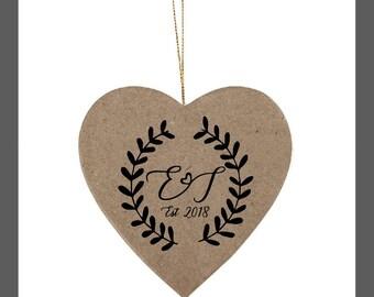 Custom wedding stamp, Personalized invitation wood stamp,laurel stamp, rubber stamp