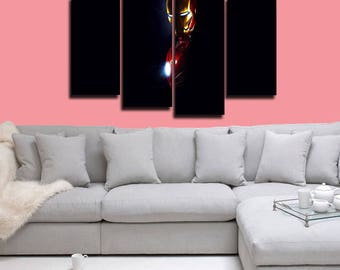 Iron Man Canvas Iron Man Poster Iron Man Print Wall Decor Wall Art Large Print Multi Panel Home Decoration Birthday gift Canvas art