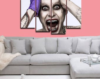 Joker Poster Joker Canvas Joker Print Wall Decor Wall Art Large Print Multi Panel Home Decoration Birthday gift Canvas art