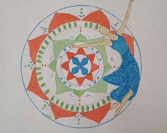 Mandala with a dancing woman