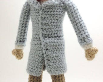 Bill Nye the Science Guy - Handmade crochet original design doll