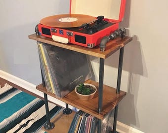 Industrial Record Player Cart on Casters