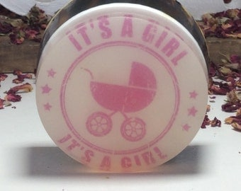 Handmade organic soap, it is a girl baby shower gift