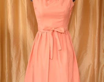 Creamsicle Satin Party Dress with Belt, Size XS